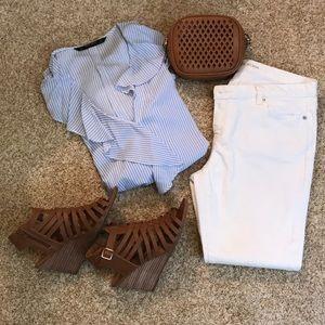Michael Kors White Capri Jeans